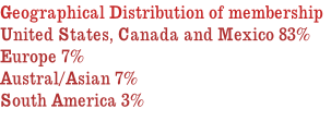 Geographical Distribution of membership
